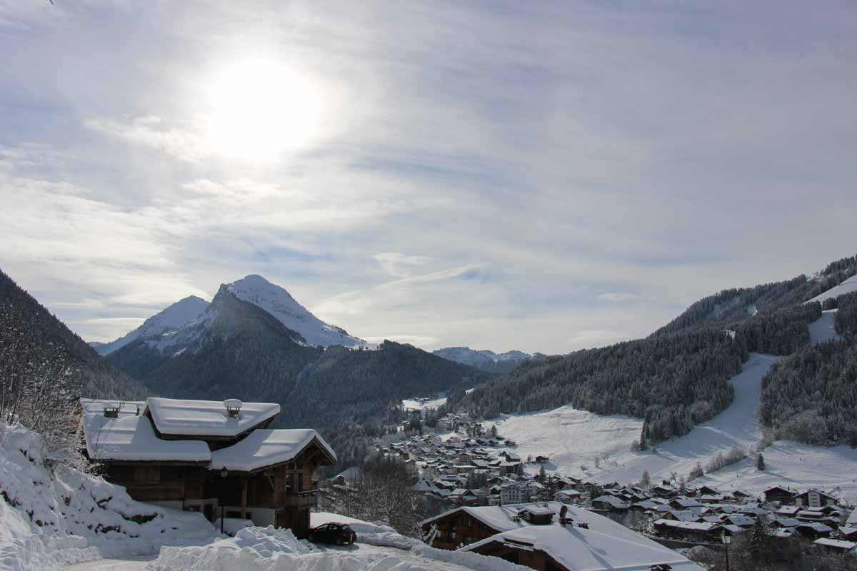 Renardiere hotel winter views