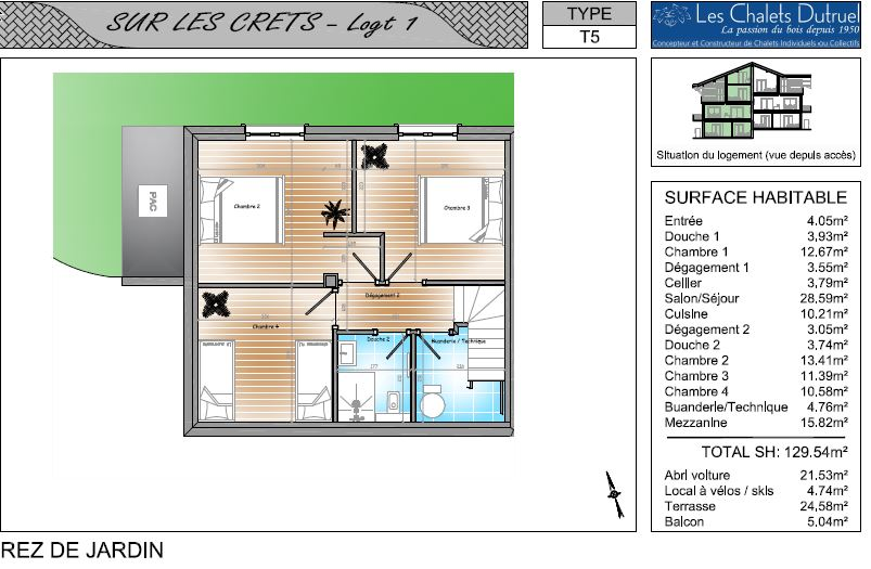 Dutruel off plan chalet 1 first floor