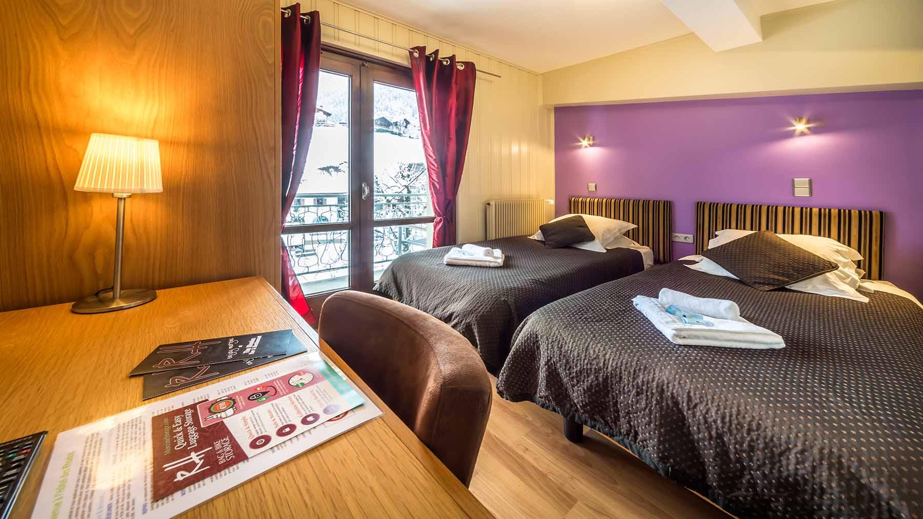 Rhodos Hotel Bedroom with Balcony