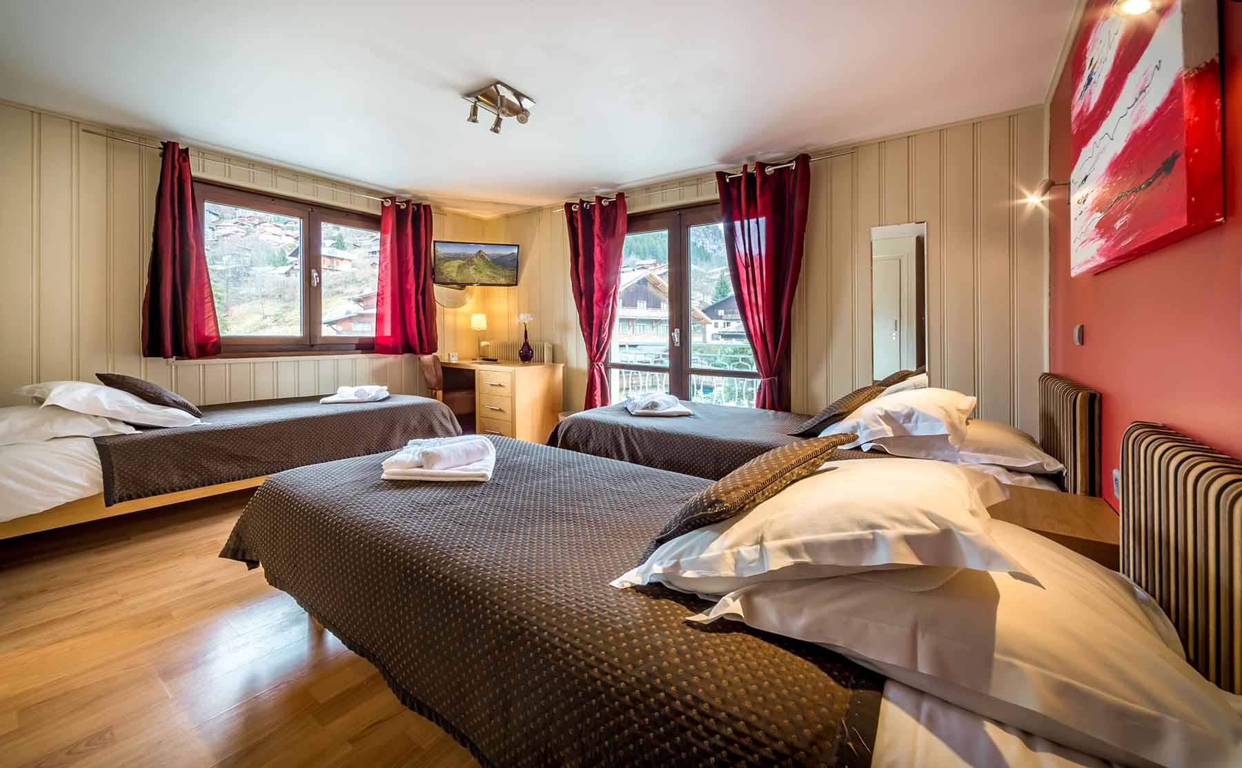 Rhodos Hotel Large Bedroom