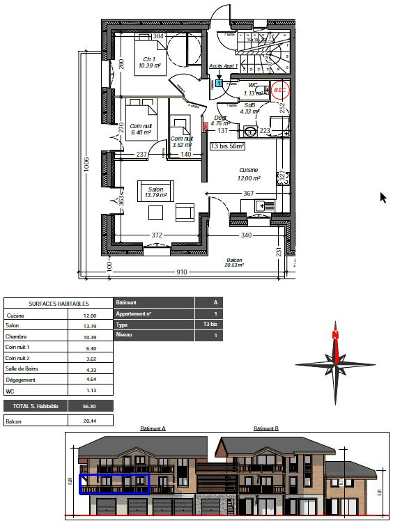 Herens Floor Plan apartment 1