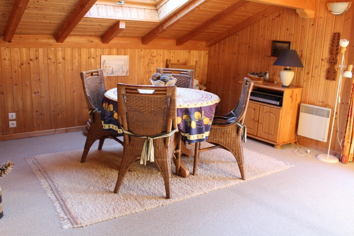 Biot Chalet Mezzanine Seating Area