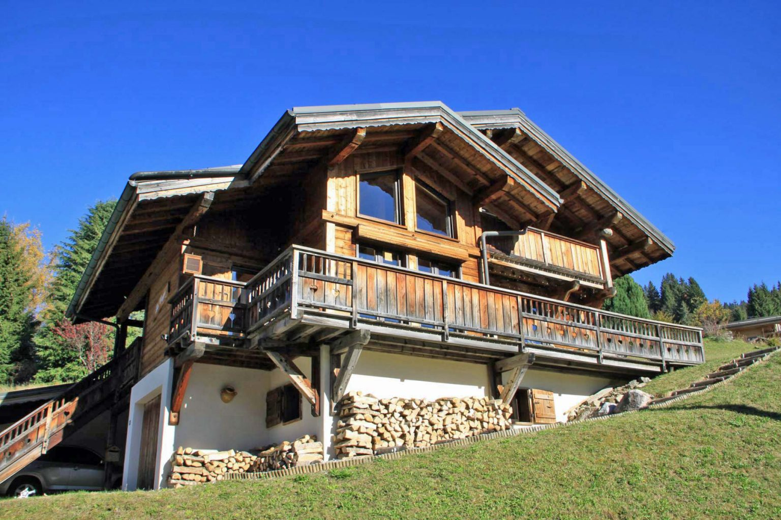Gibannaz Chalet Front of Chalet