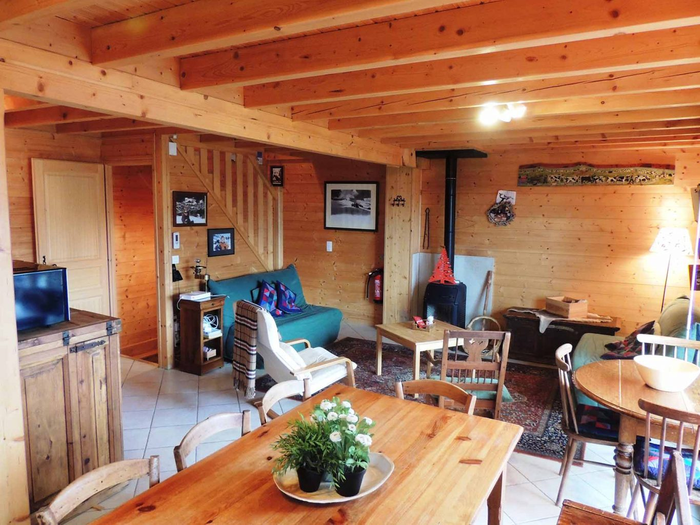 Mont Chery Chalet Living Dining Room