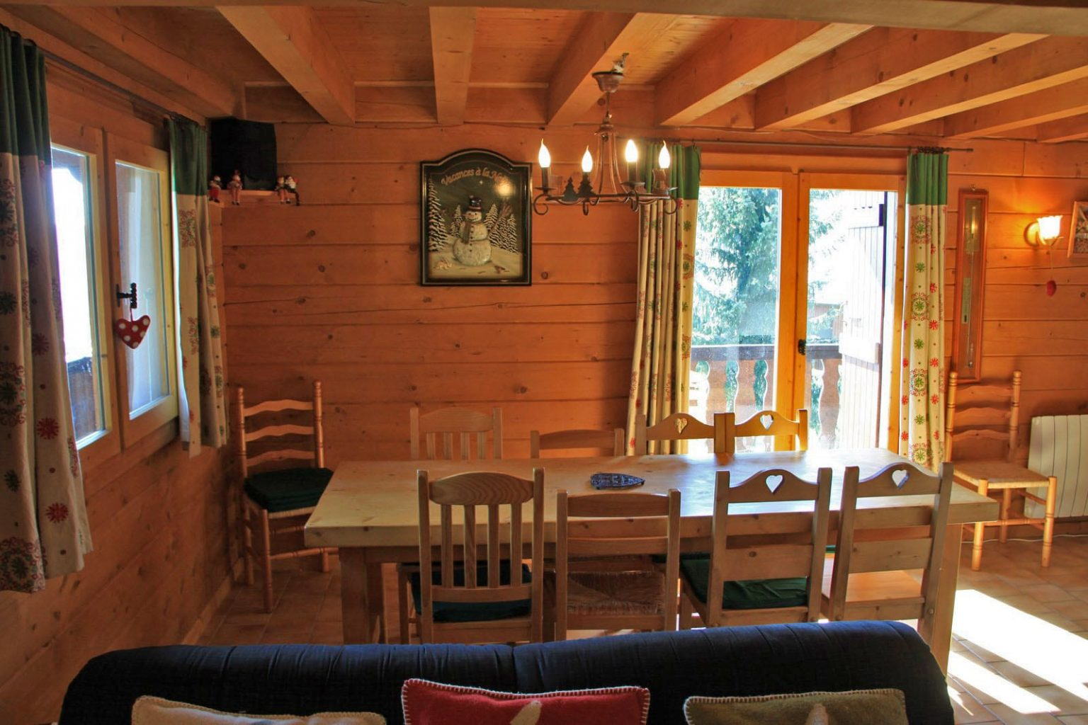 Chalet Folliets Dining Room