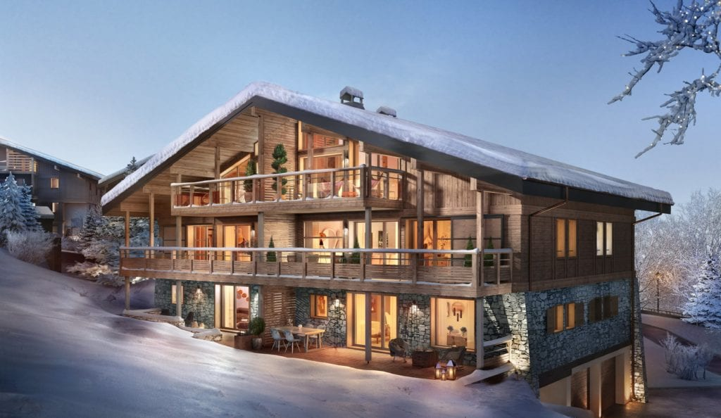 Megeve Stallion Exterior with terrace