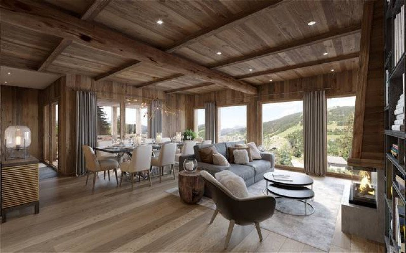 Chalets Chavannes Example Living Room