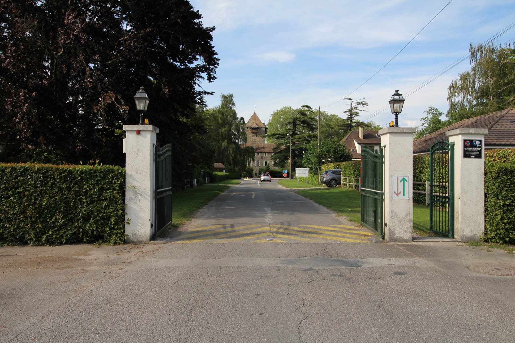 Coudree Gated entrance