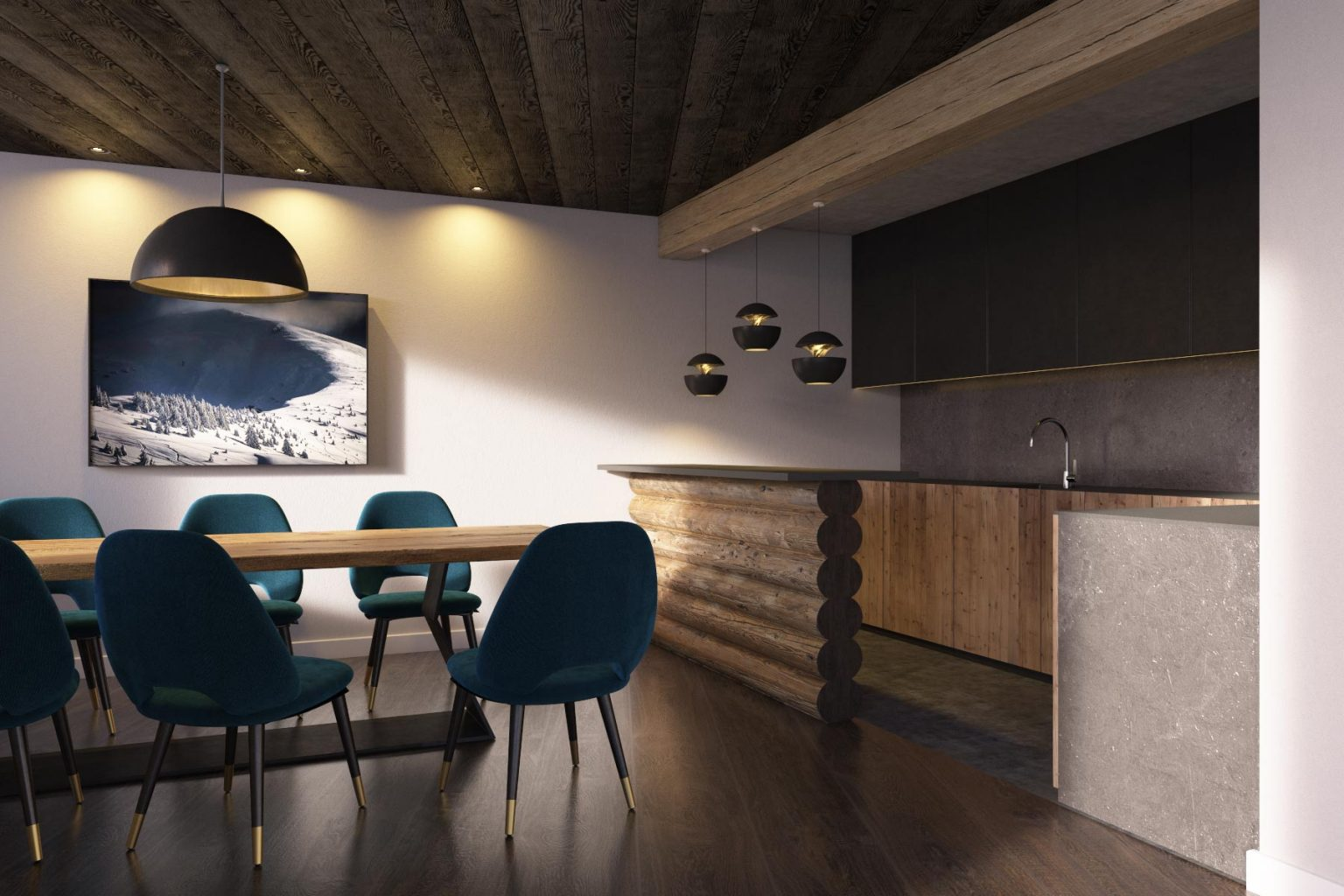 Chalet Aspen Appts Dining Room