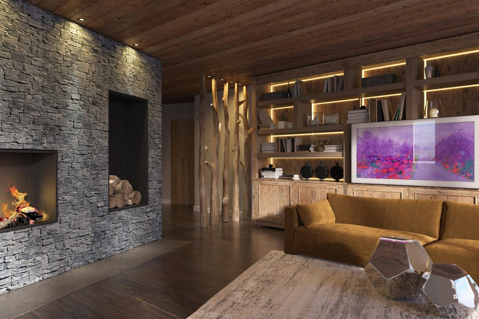 Chalet Aspen Appts Sitting Room