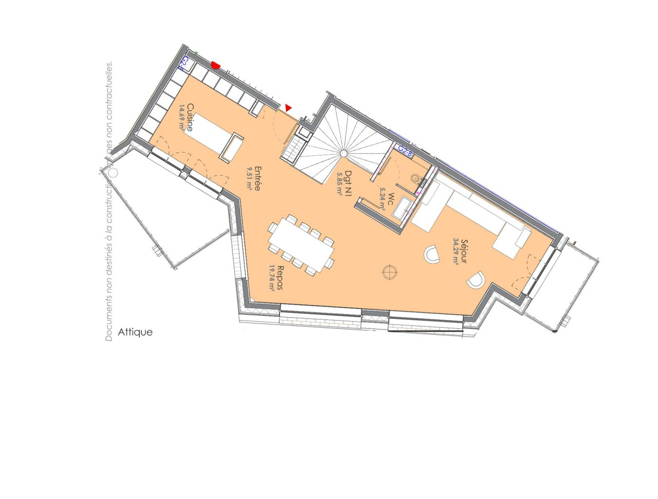 Chalet Aspen Appts Floor plan 1