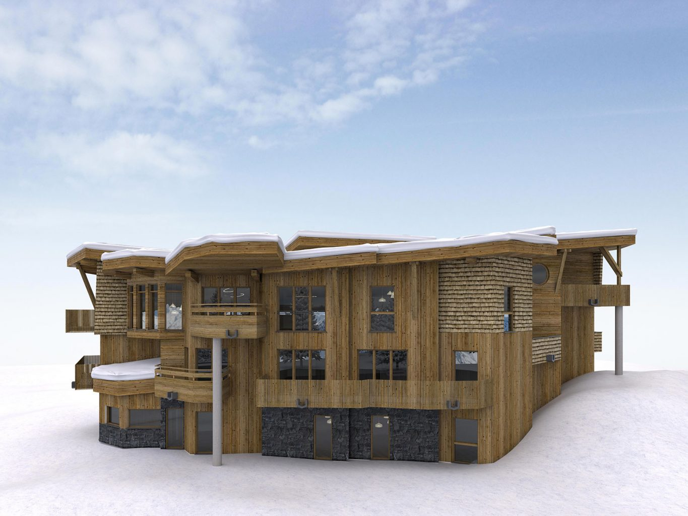 Chalet Aspen Appts Outside
