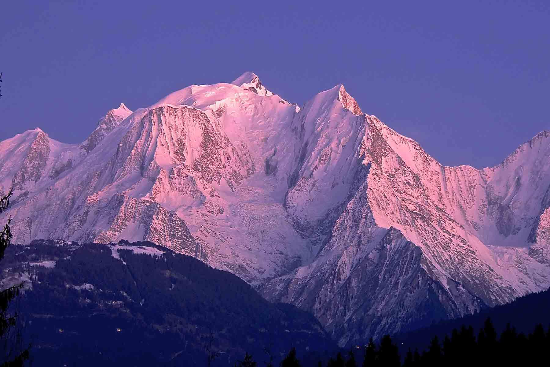 mont blanc sunset Megève