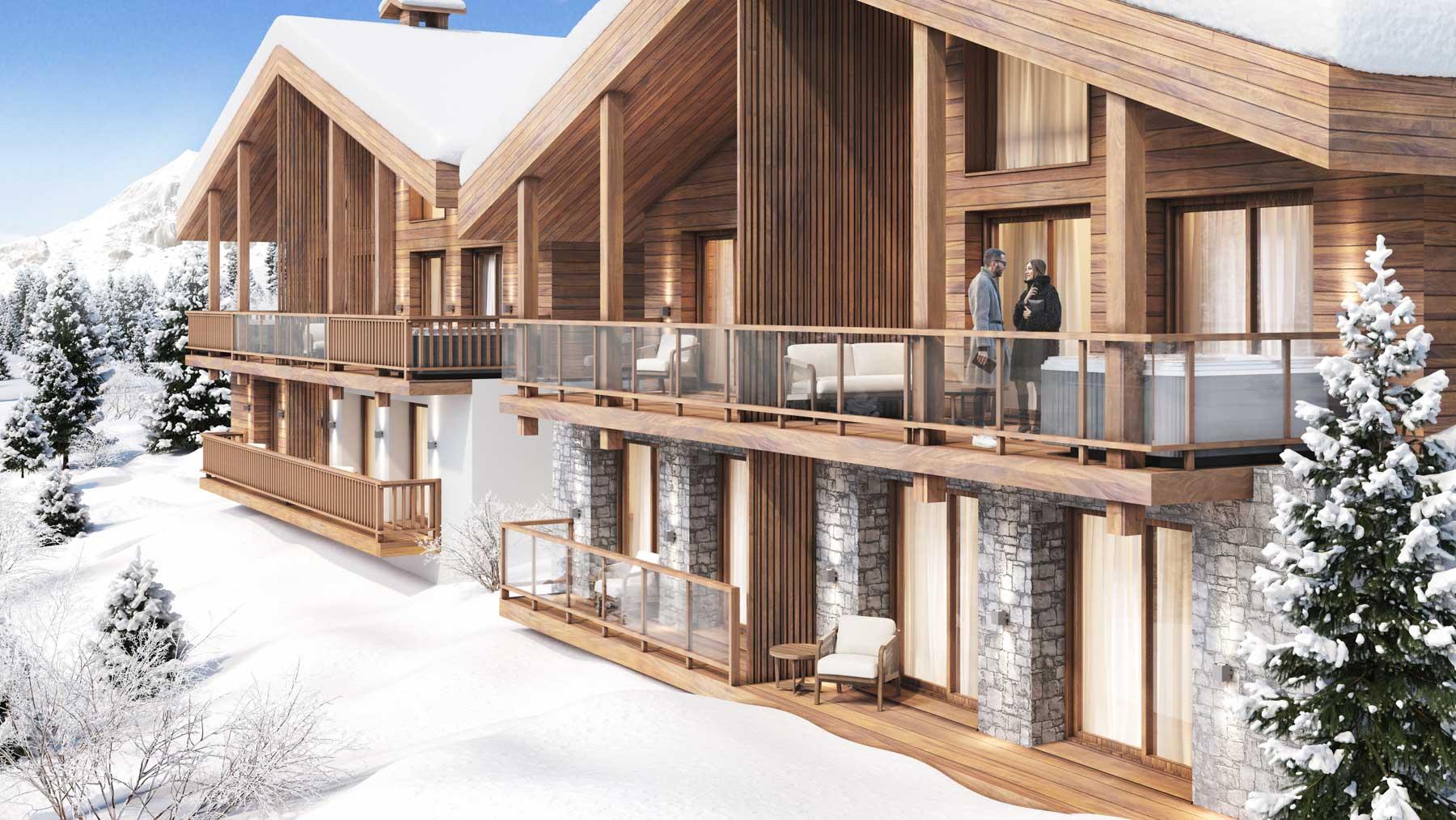 Kamet New Build Chalets Exterior