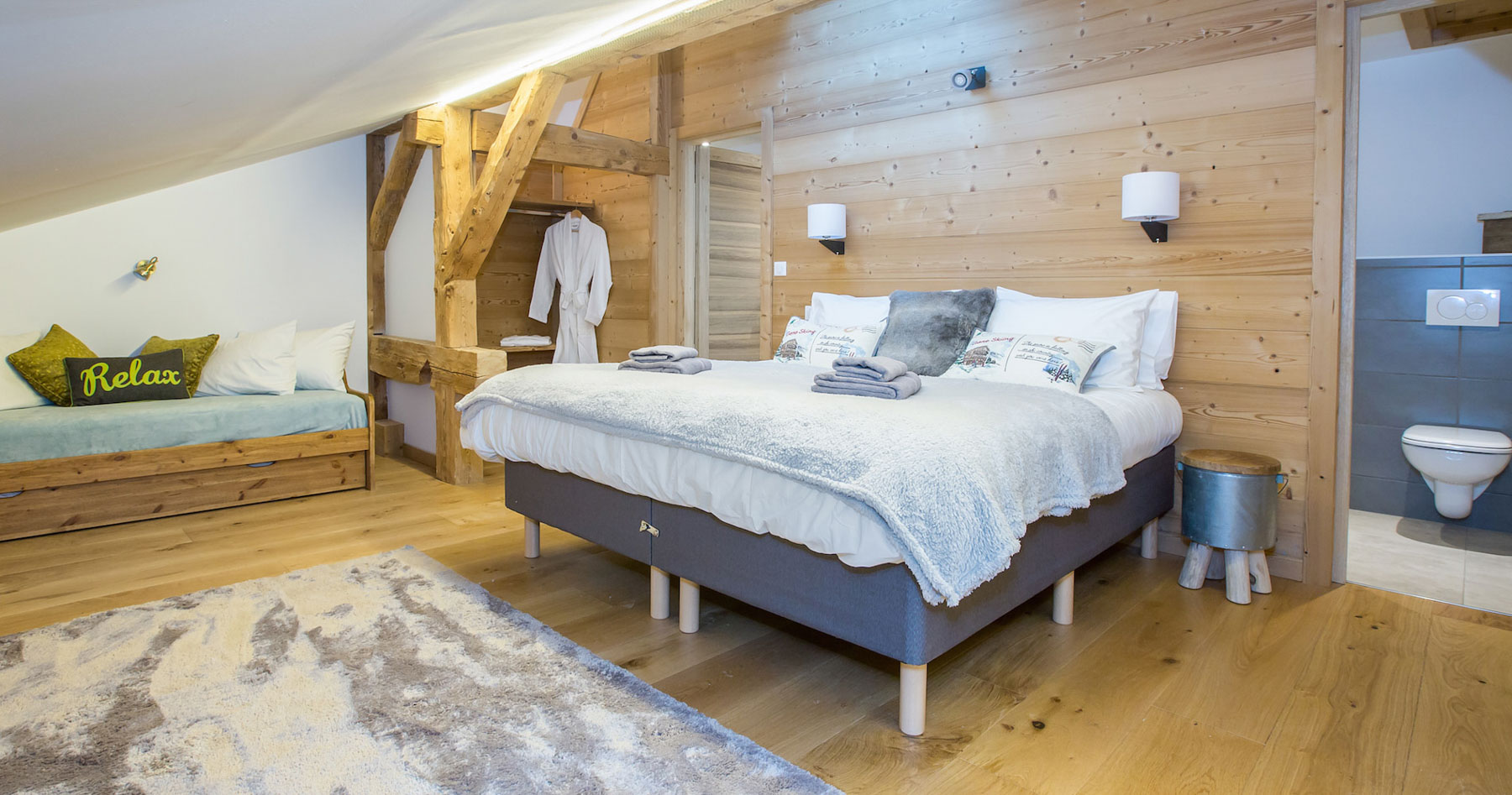 Chalet-perdrix-Double Bedroom