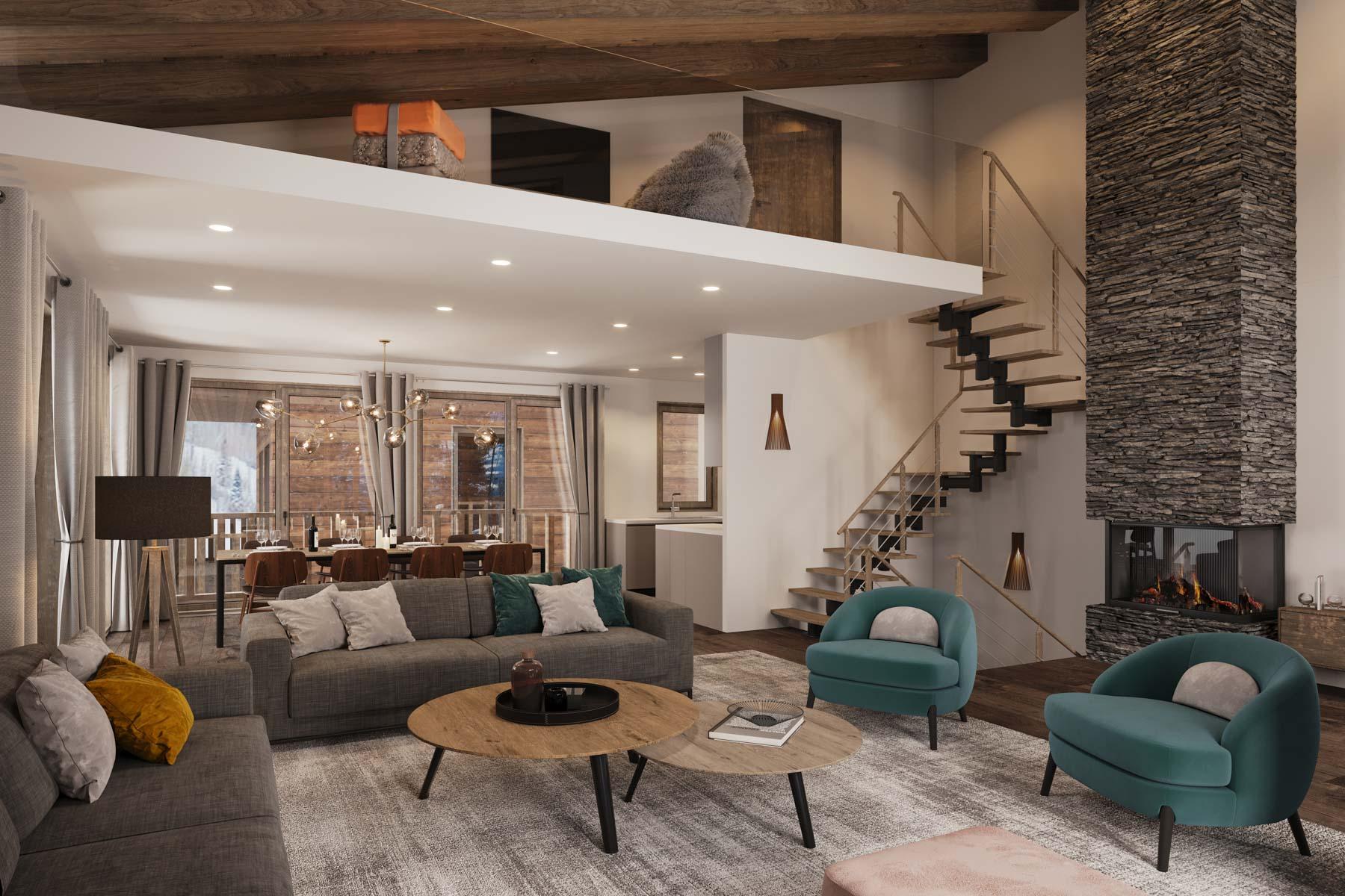Kamet New Build Chalets Example sitting room