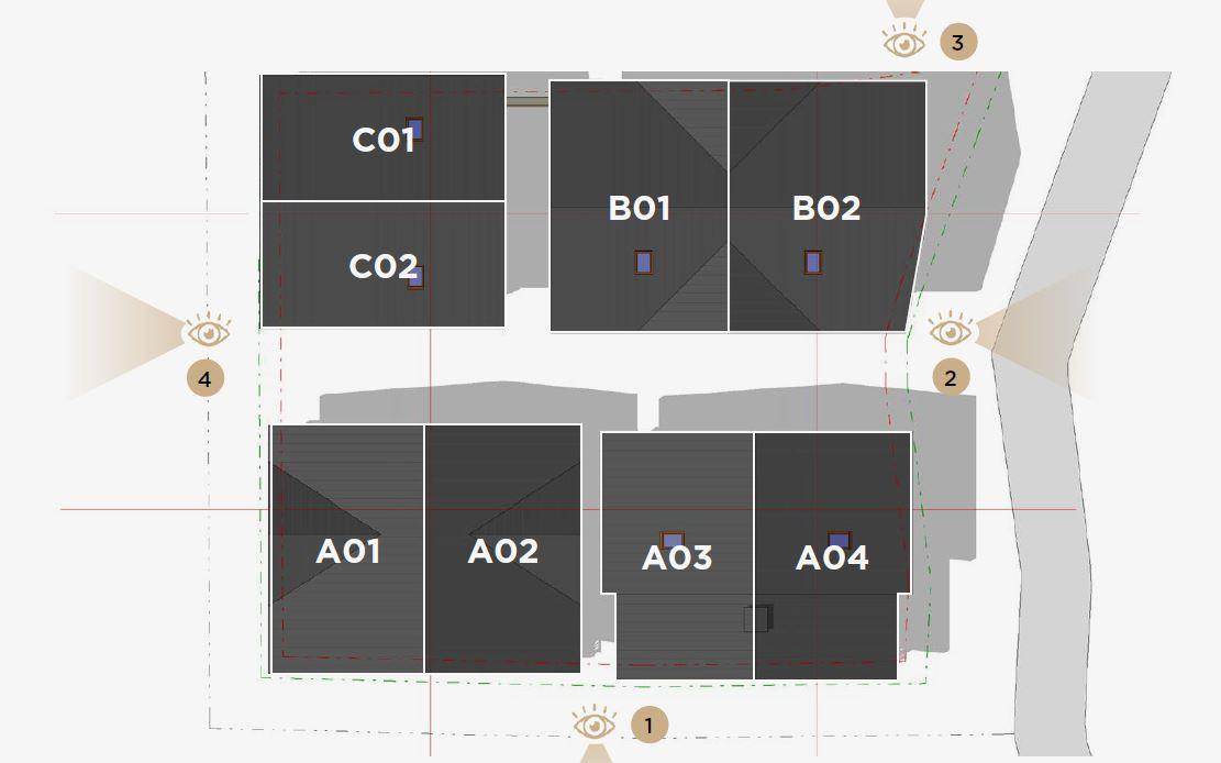 Kamet New Build Chalets site layout
