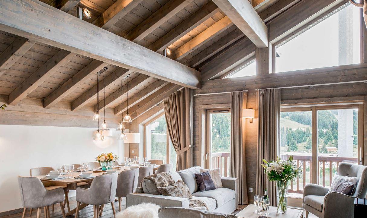 Kamet New Build Chalets Example Open Plan Living Room