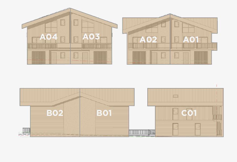 Kamet New Build Chalets External facades