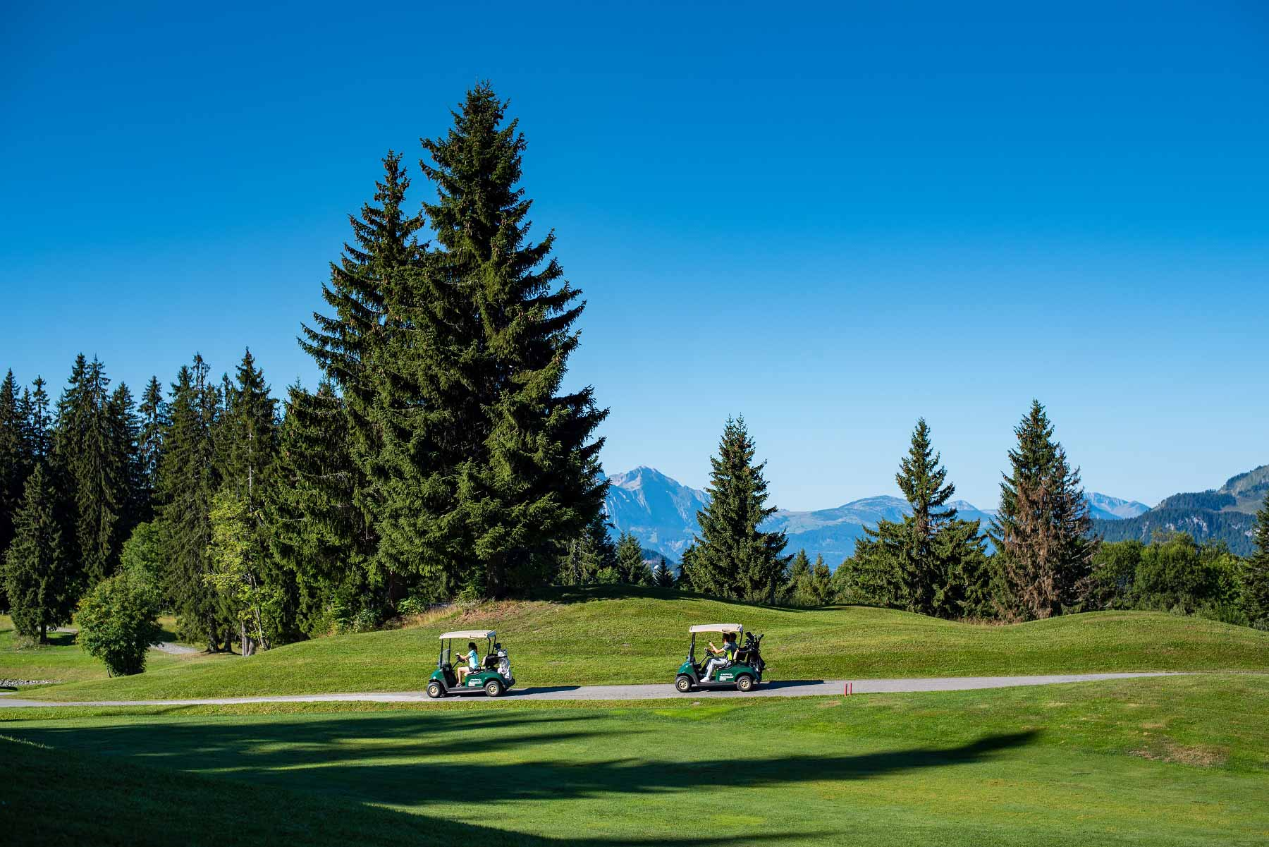 golf with a mountain view