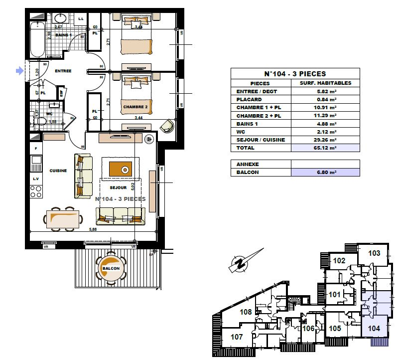 Cottage Alpin Floor Plan 104