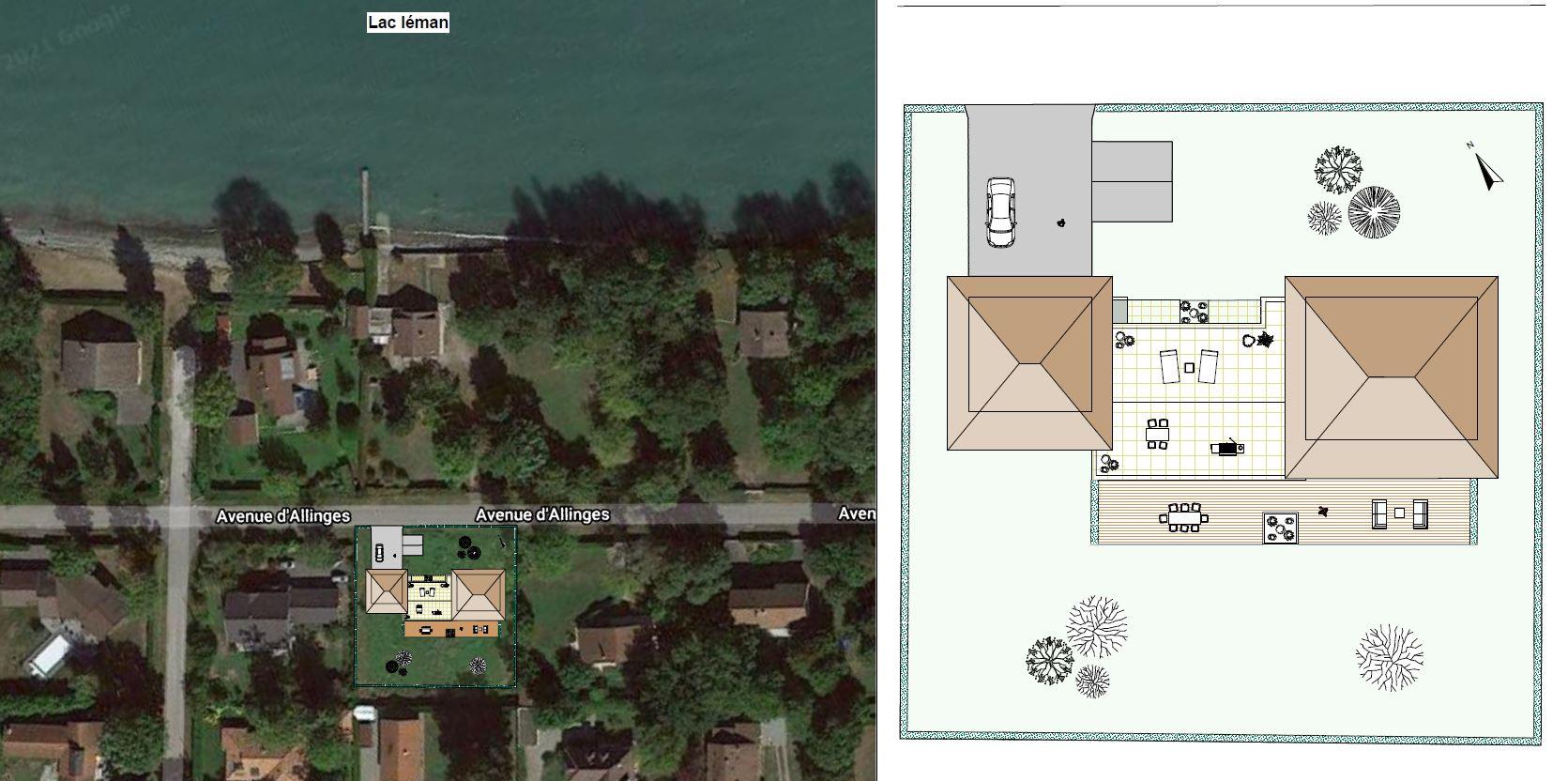 Domaine du Coudree Plan Masse Villa
