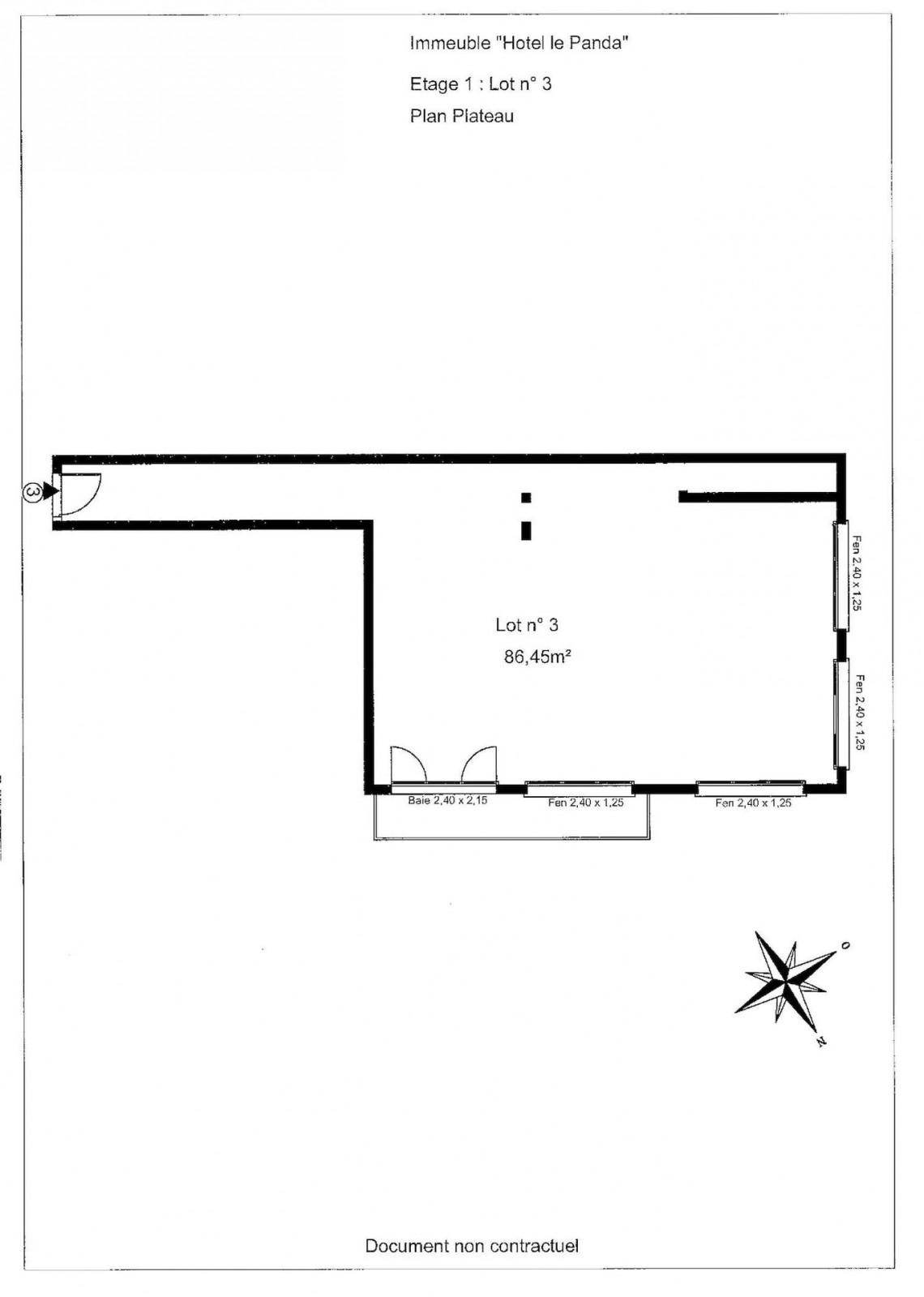 La Panda 3 Floor Plan blank