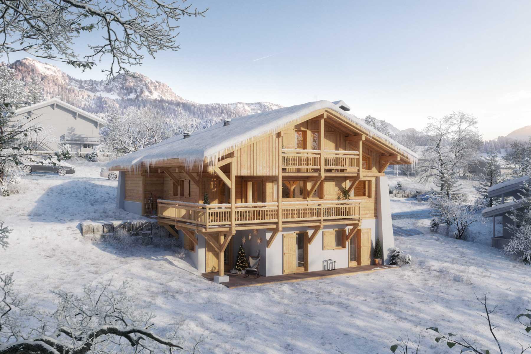 Riches Chalet 289 In snow
