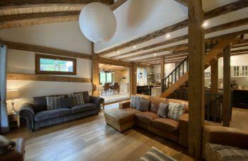 Grimes Chalet Open Plan Living Area