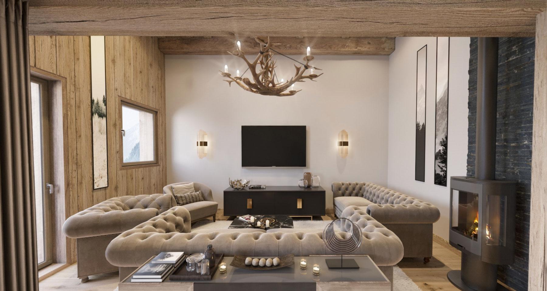 Gite Blanc Example Sitting Room