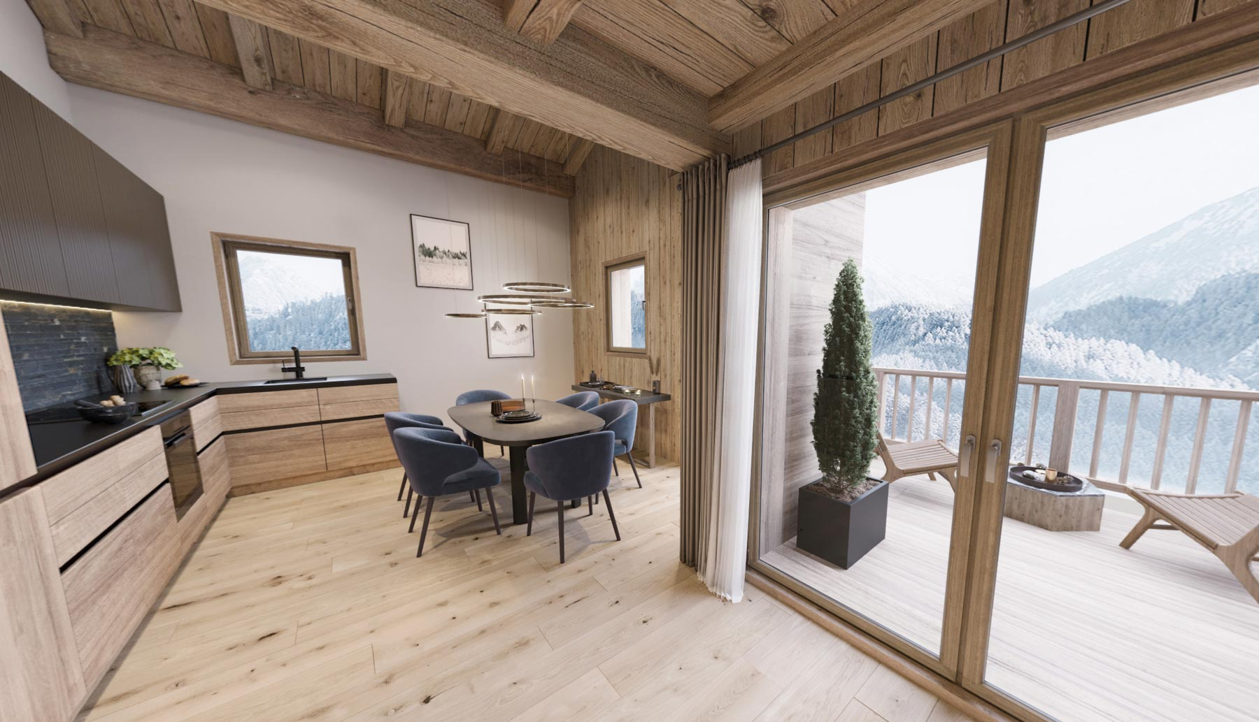 Gite Blanc Example Dining Room