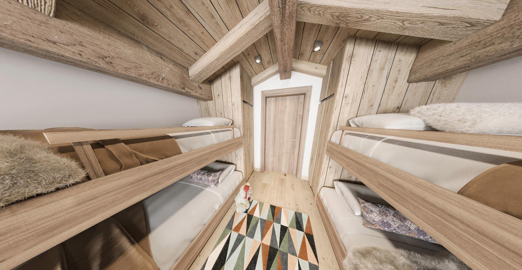 Gite Blanc Example Bunk Room