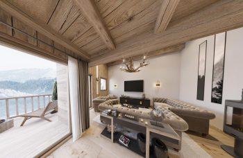 Gite Blanc Example Open Plan Living Room